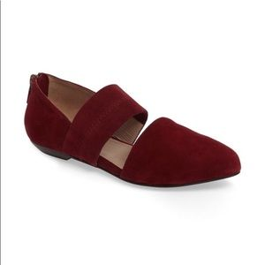 Eileen Fisher Hall Pointed Toe Suede Flats